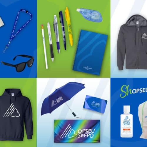 Collage d'articles de marque OPSEU/SEFPO