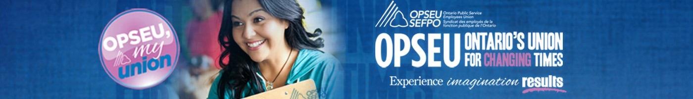 OPSEU Organizing banner