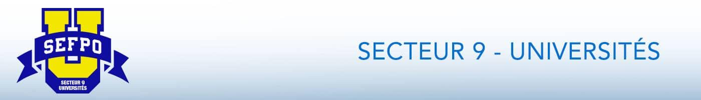 Secteur 9 - Universités bannière