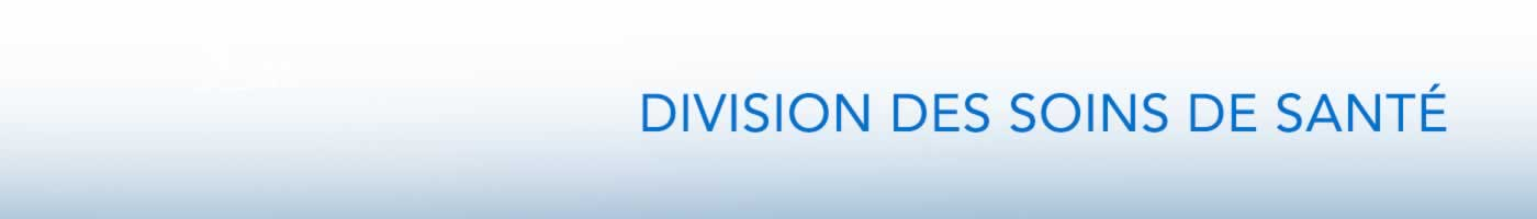 Division Des Soins De Santé bannière