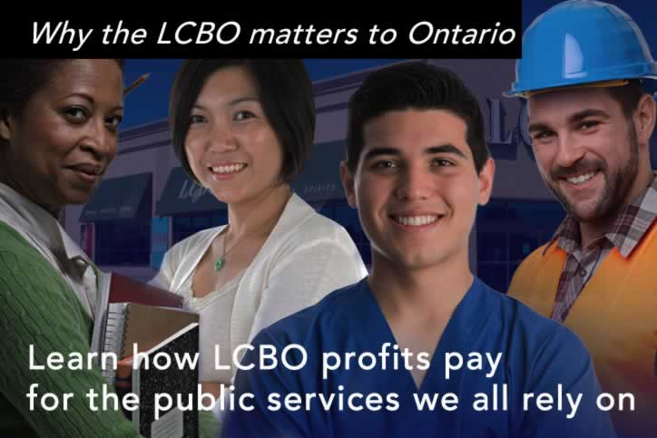 Why the LCBO matters to Ontario. Learn how LCBO profits pay for the public services we all rely on.