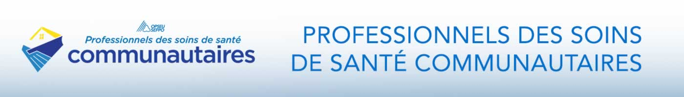 CHCP: Community Healthcare Professionals Banner - French
