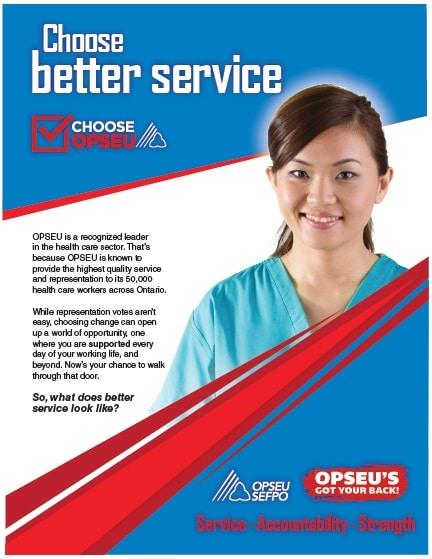 Choose better service, choose OPSEU poster