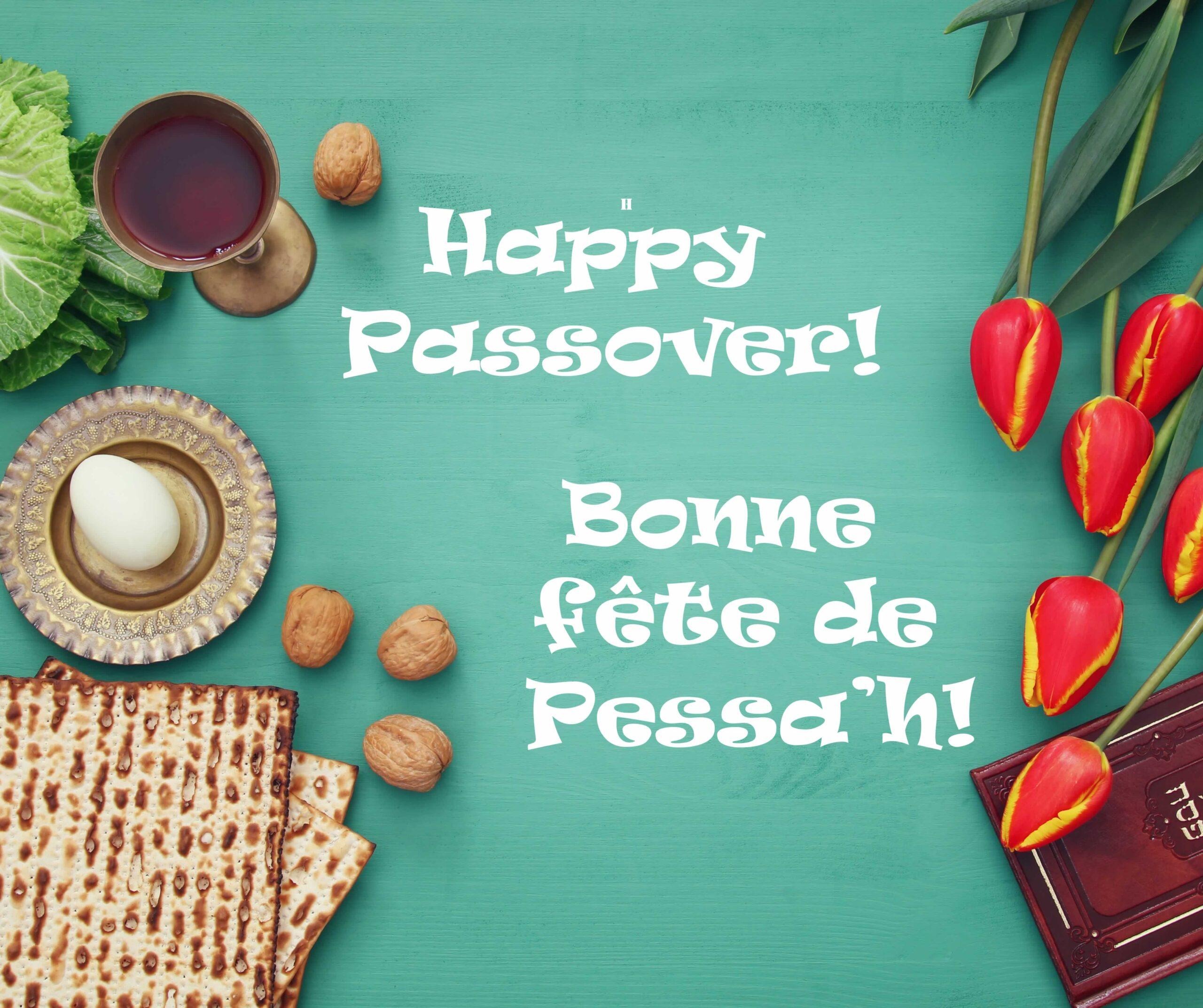 Happy Passover! Bonne fete de Pessa'h!
