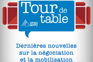 Tour de table. Dernieres nouvelles sur la negociation et la mobilisation. SEFPO