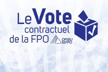 Le Vote contractuel de la LCBO SEFPO