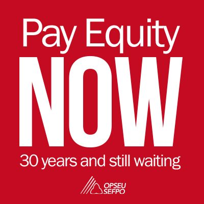 Pay Equity Now: 30 years and still waiting