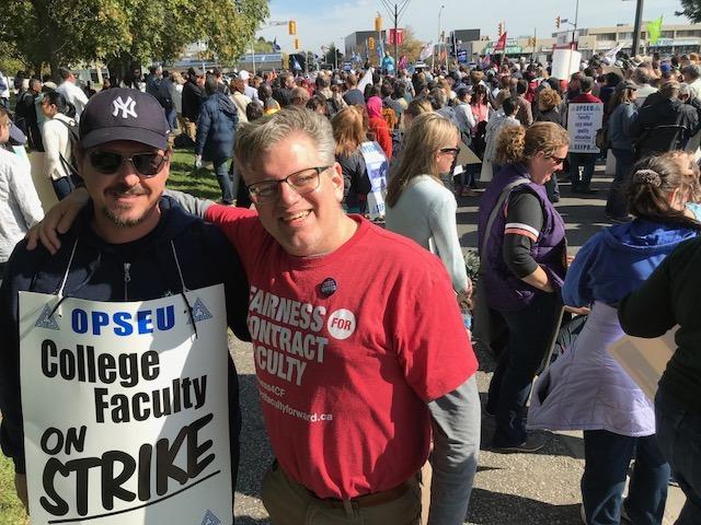 OPSEU members at Seneca York Solidarity Rally