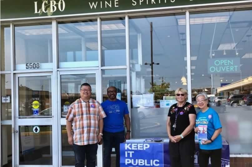 Shop LCBO information picket