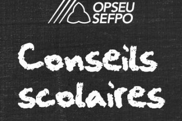 Conseils scolaires en lettres blanches sur fond noir