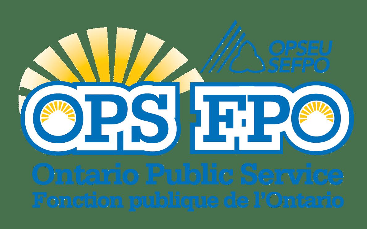 OPS: Ontario Public Service Logo. FPO: Fonction publique de l'Ontario