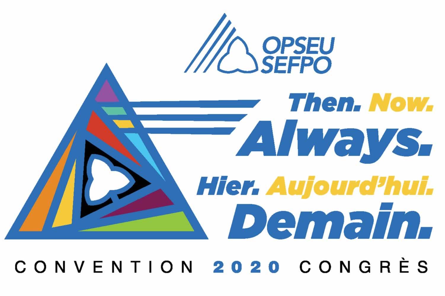 Convention 2020. Then. Now. Always. / Congres 2020. Heir. Aujourd'hi. Demain