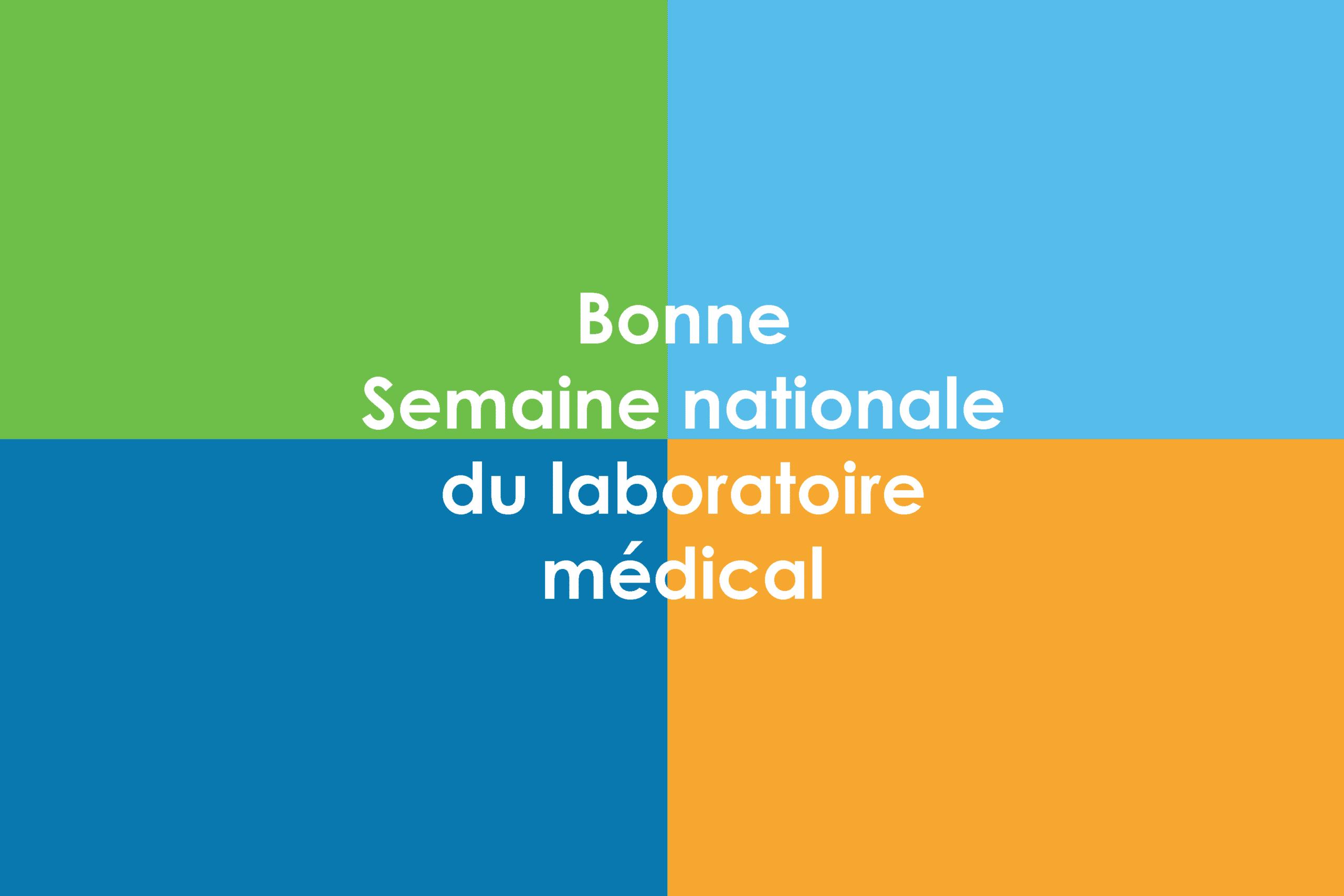 Bonee Semaine nationale de laboratoire medical