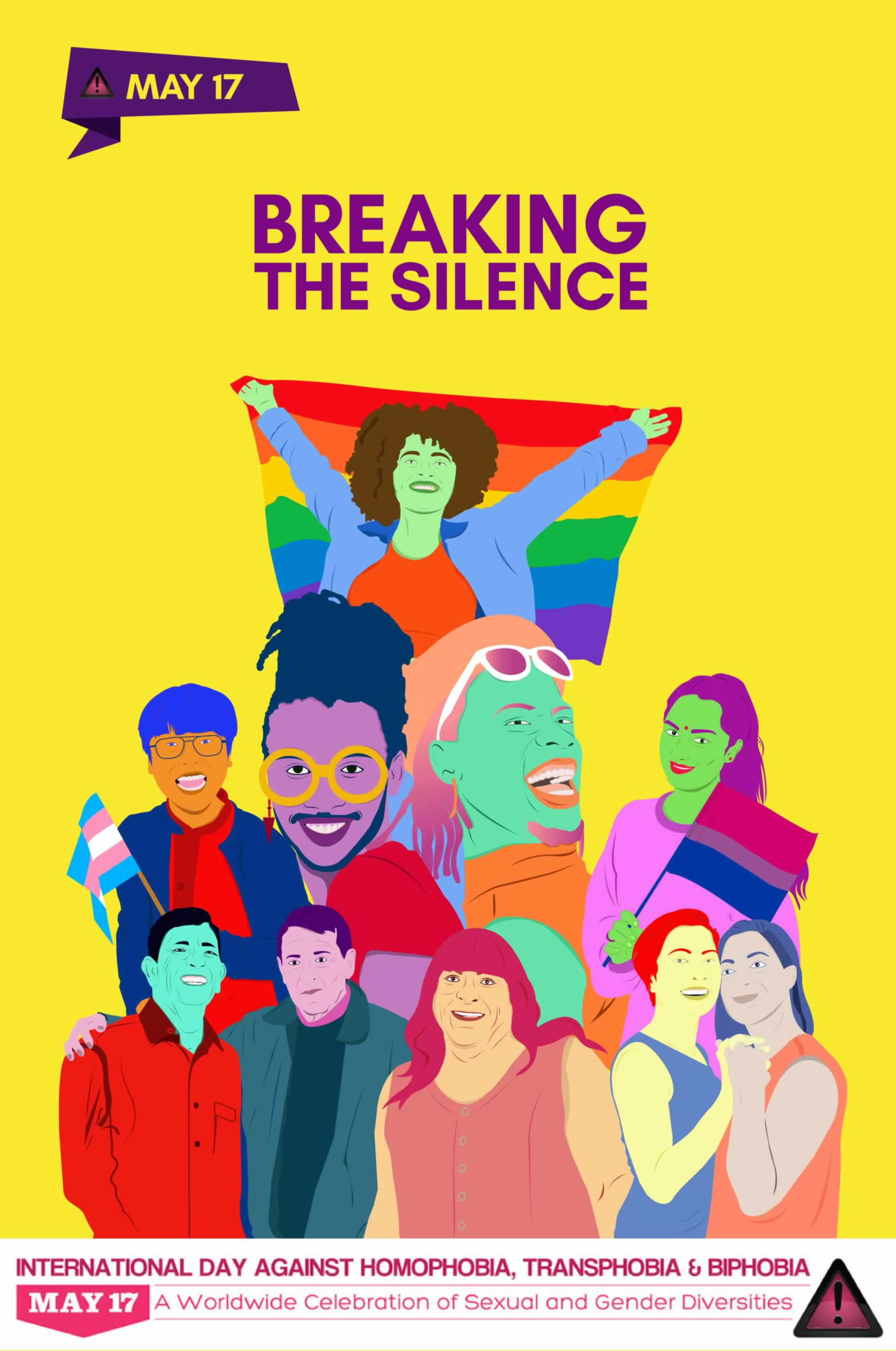 International Day against Homophobia, Transphobia and Biphobia: May 17 A worldwide celebration of Sexual and Gender Diversities