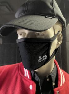 Model wearing OPSEU/SEFPO Black face mask