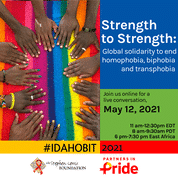 Live Conversation: Strength to Strength, Global solidarity poster