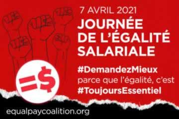 Journee De L'Egalite Salariale - 7 Avril 2021