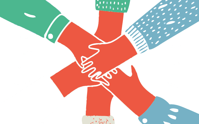 Illustration of hands