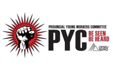 Provincial Young Workers Committee with a raised-fist logo